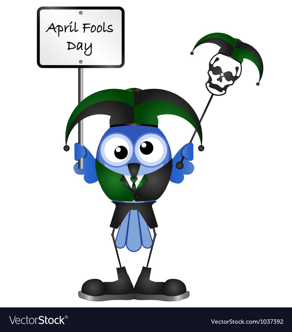 Bird april fools day vector | Price: 1 Credit (USD $1)