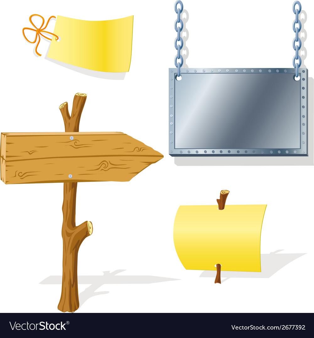 Board arrow indicator message vector | Price: 1 Credit (USD $1)