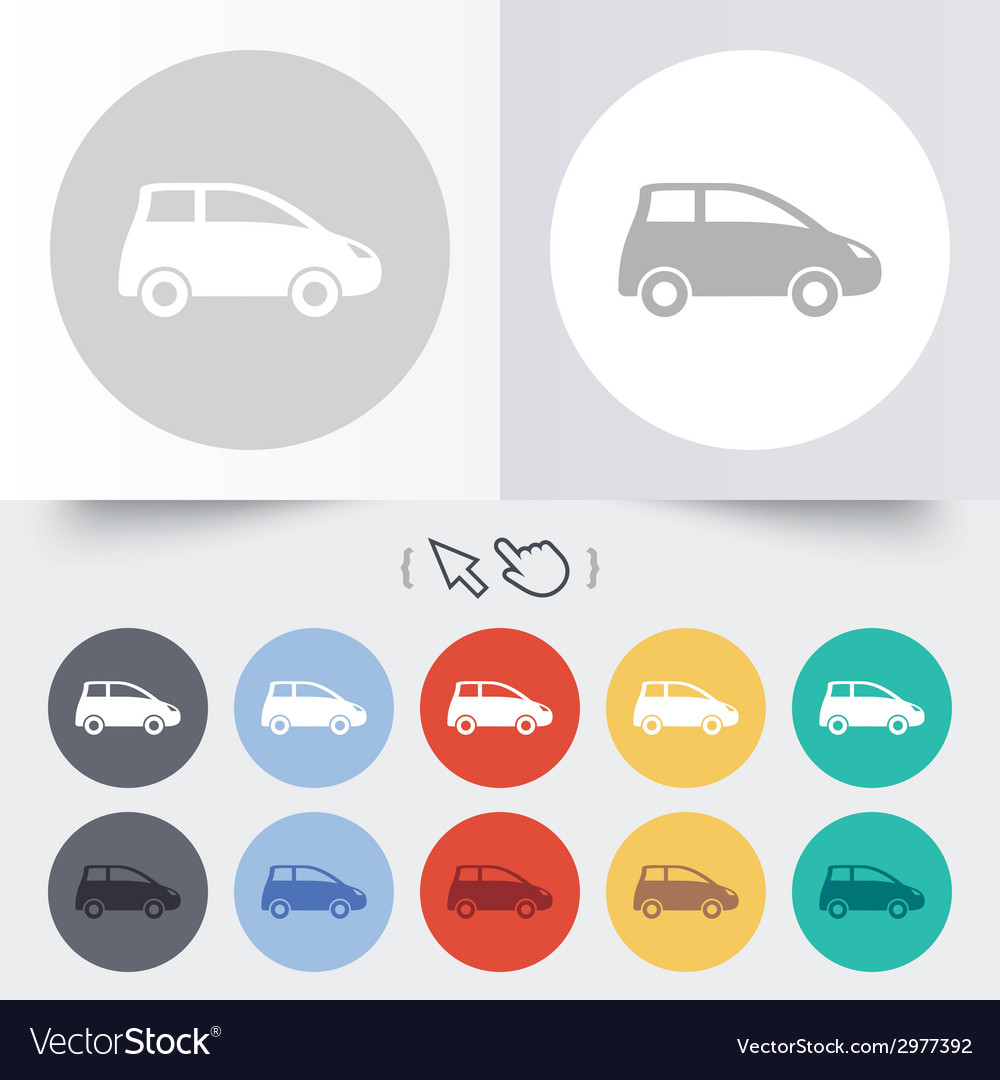 Car sign icon hatchback symbol vector | Price: 1 Credit (USD $1)