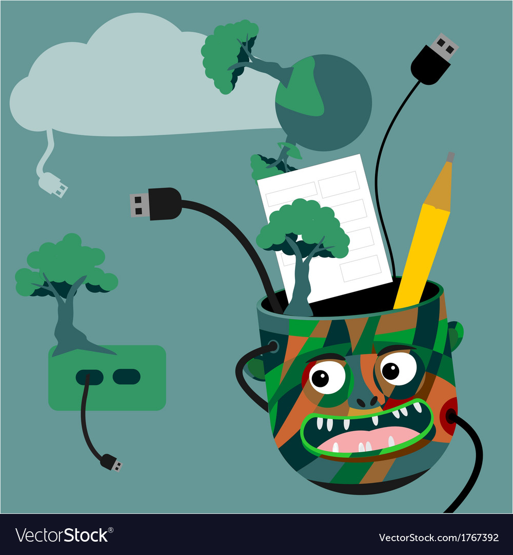 Green technology idea vector | Price: 1 Credit (USD $1)