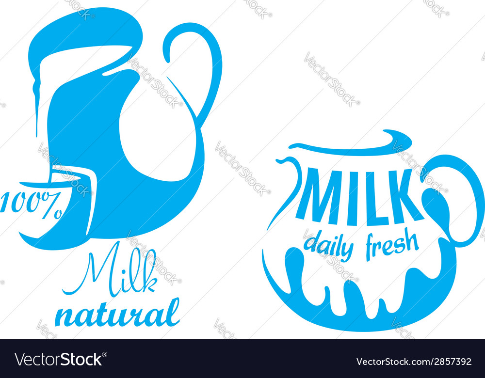 Jugs with natural milk vector | Price: 1 Credit (USD $1)