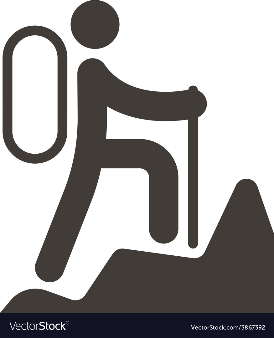 Mountaineering icon vector | Price: 1 Credit (USD $1)
