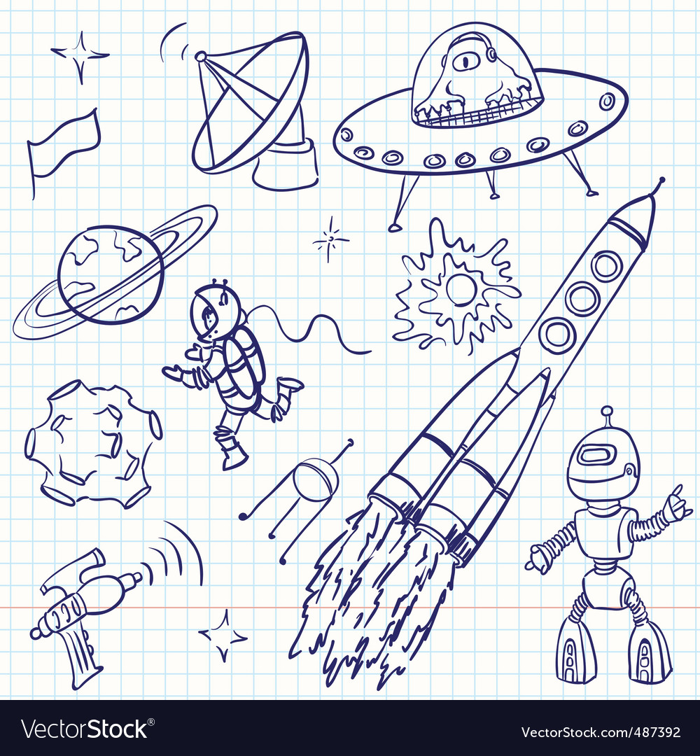 Space doodles vector | Price: 1 Credit (USD $1)
