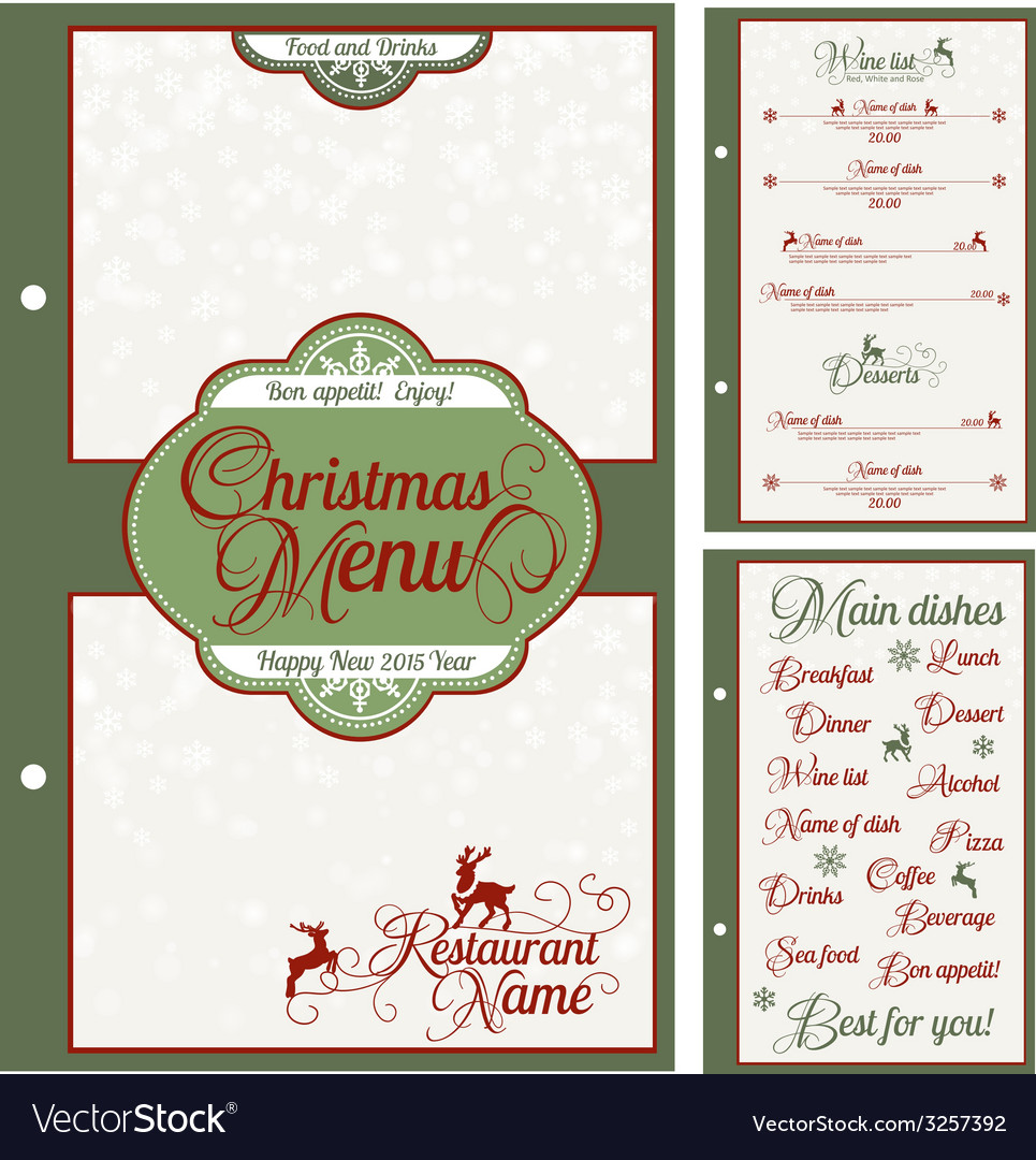 Special christmas festive menu design vector   Price: 1 Credit (USD $1)