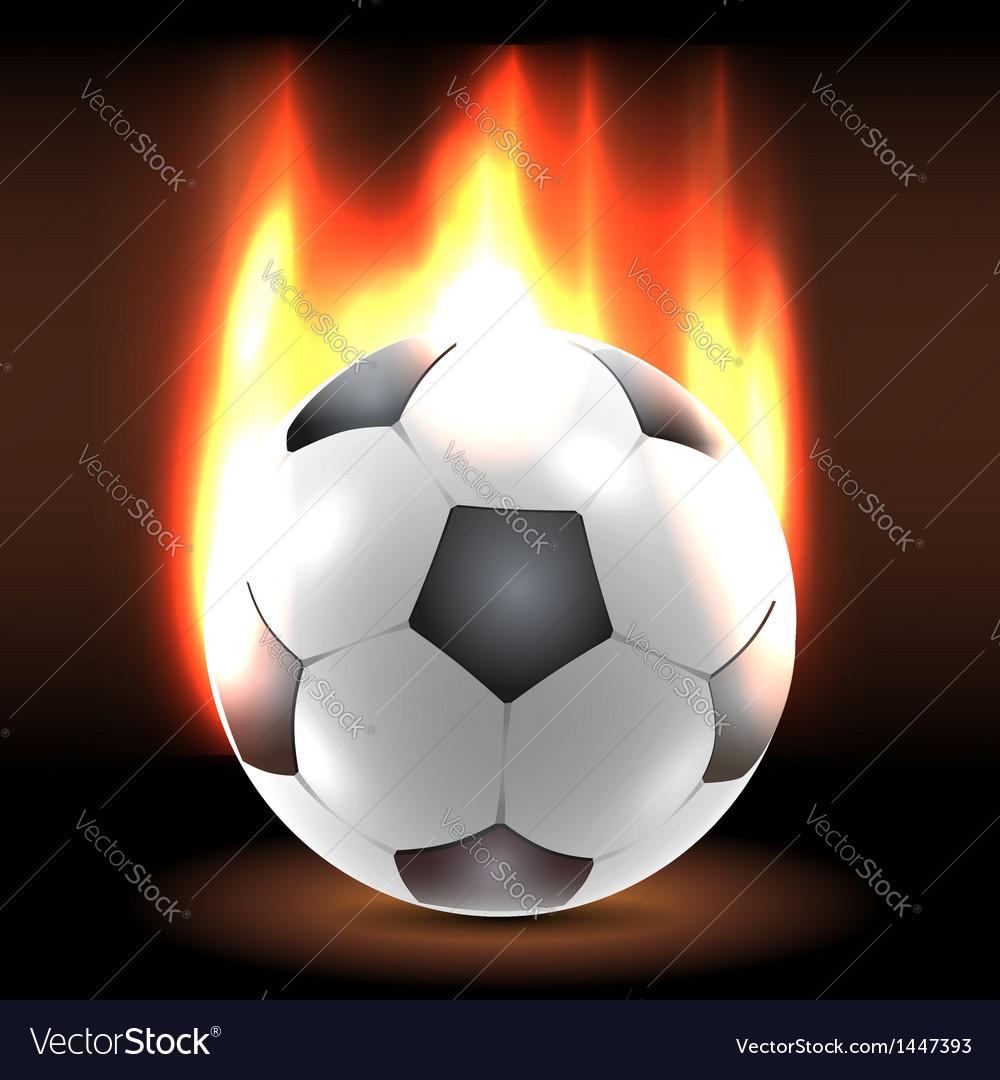 Burning soccer ball in the dark vector | Price:  Credit (USD $)