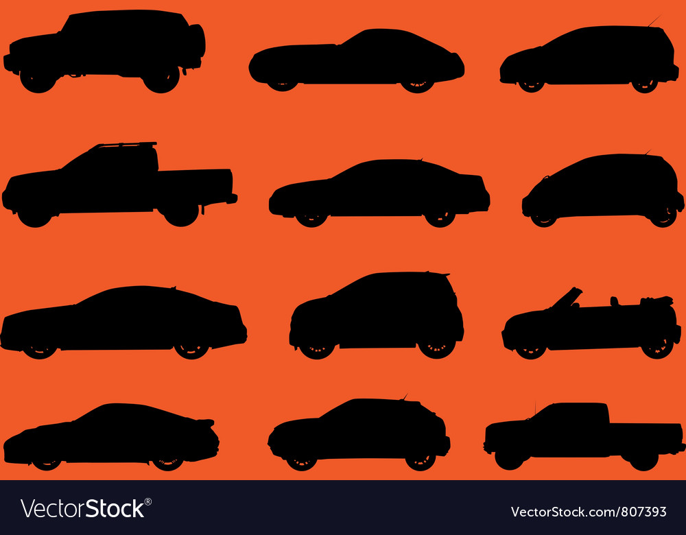 Cars silhouettes part 2 vector | Price: 1 Credit (USD $1)