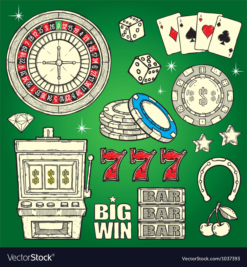 Casino set vector | Price: 3 Credit (USD $3)