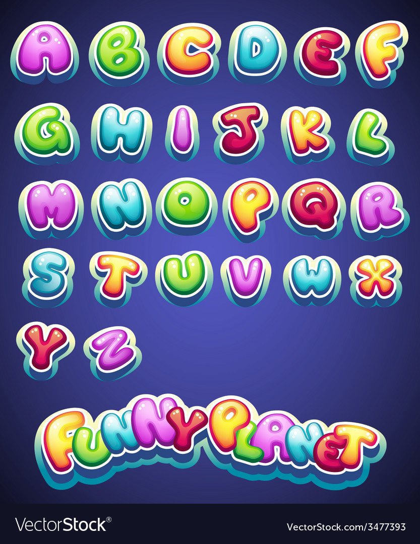 Colored letters for decoration of different names vector | Price: 1 Credit (USD $1)