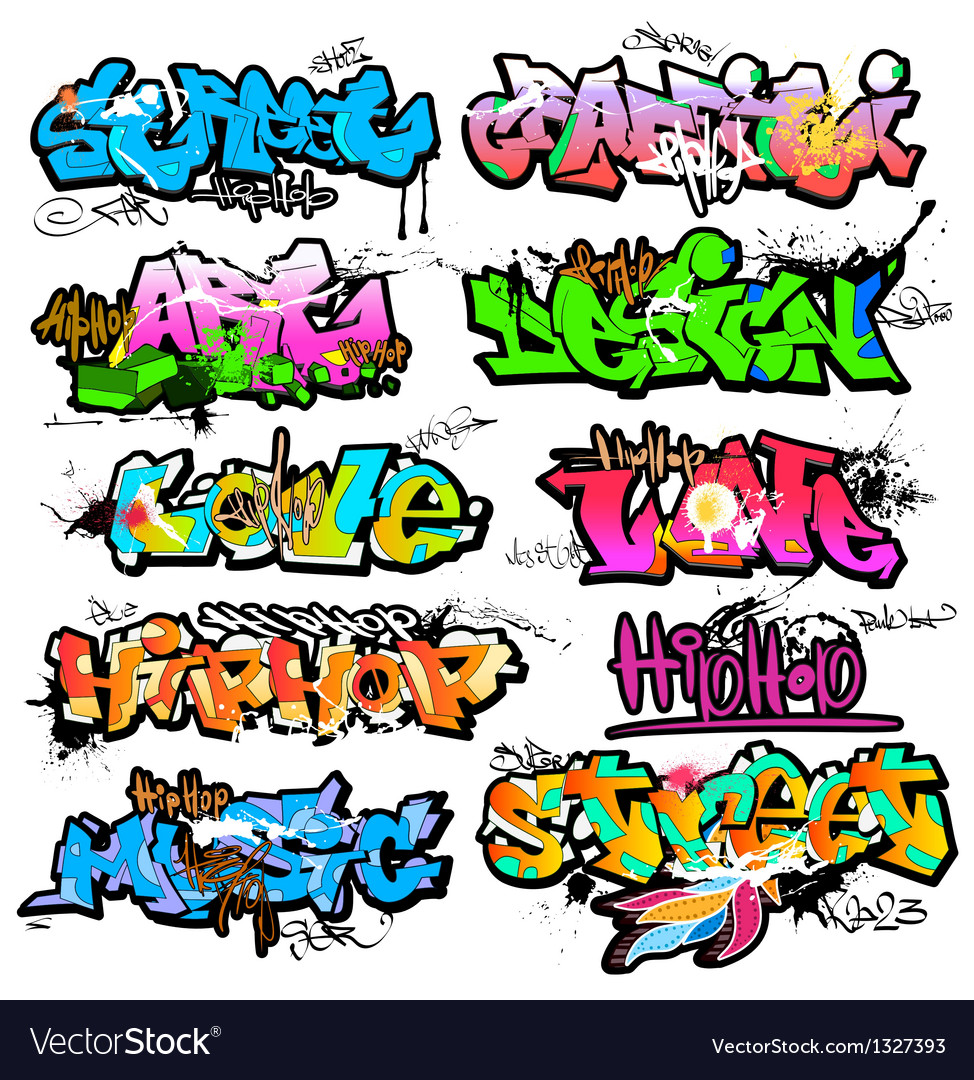 Graffiti wall urban art vector | Price: 1 Credit (USD $1)