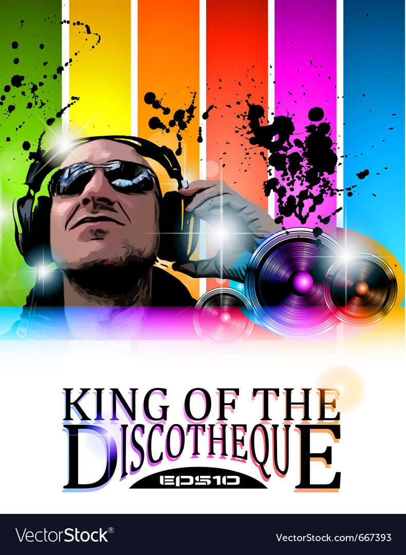 King of the discotheque vector | Price: 3 Credit (USD $3)