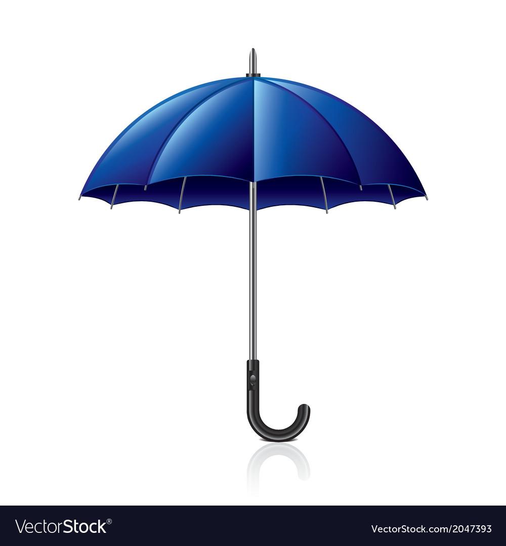 Object blue umbrella vector | Price: 1 Credit (USD $1)