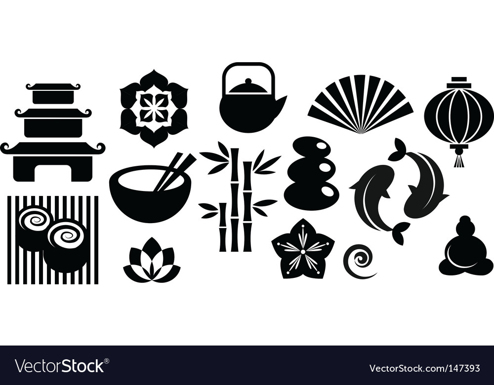 Zen icons vector | Price: 1 Credit (USD $1)