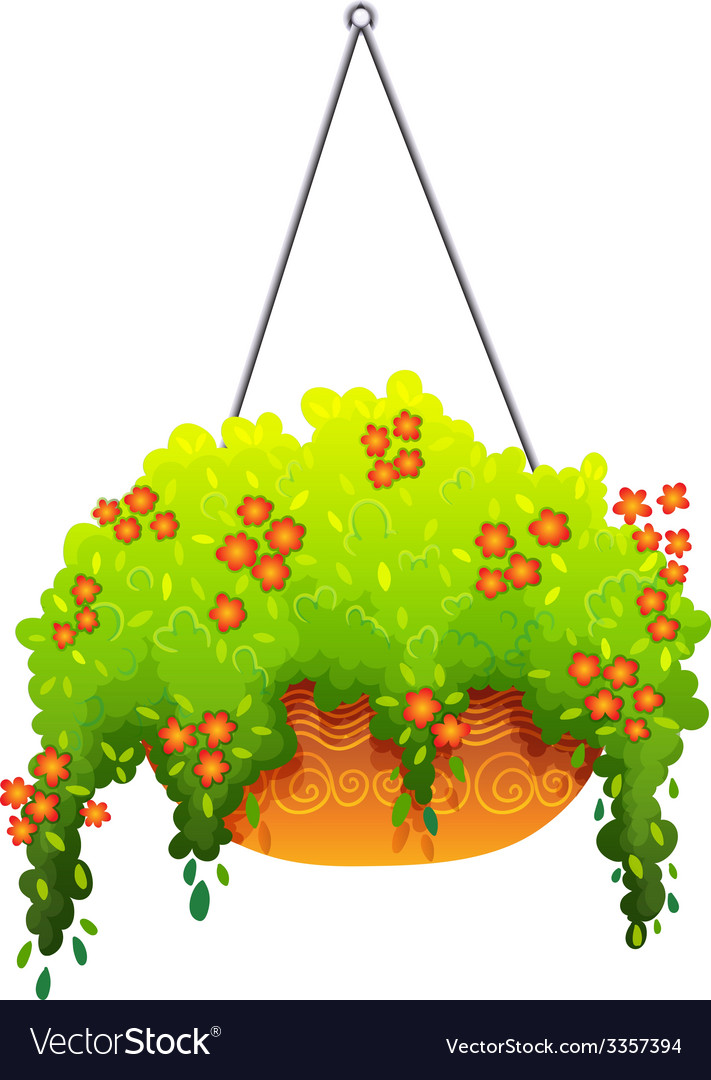 A hanging houseplant vector | Price: 1 Credit (USD $1)