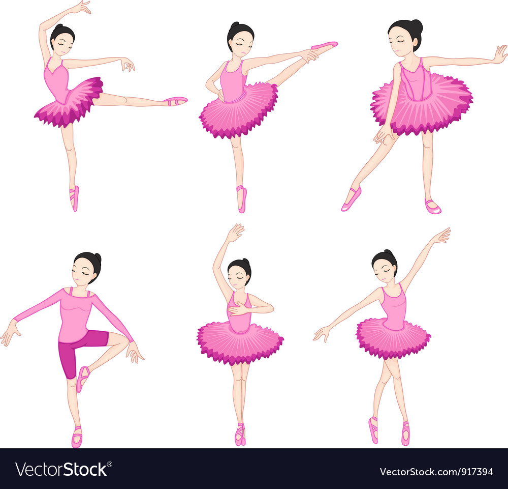 Ballerina set vector | Price: 5 Credit (USD $5)