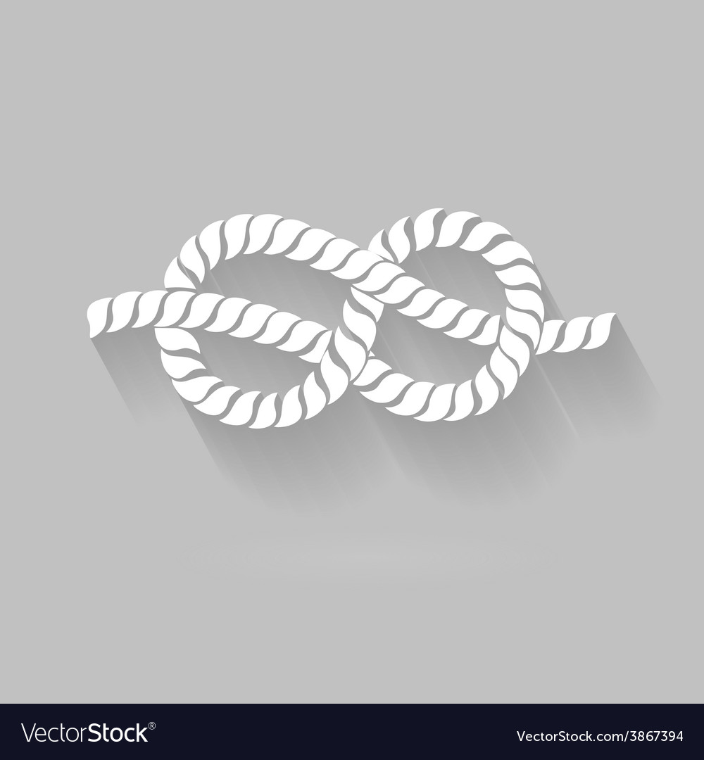 Black and white rope eight knot graphic design vector | Price: 1 Credit (USD $1)