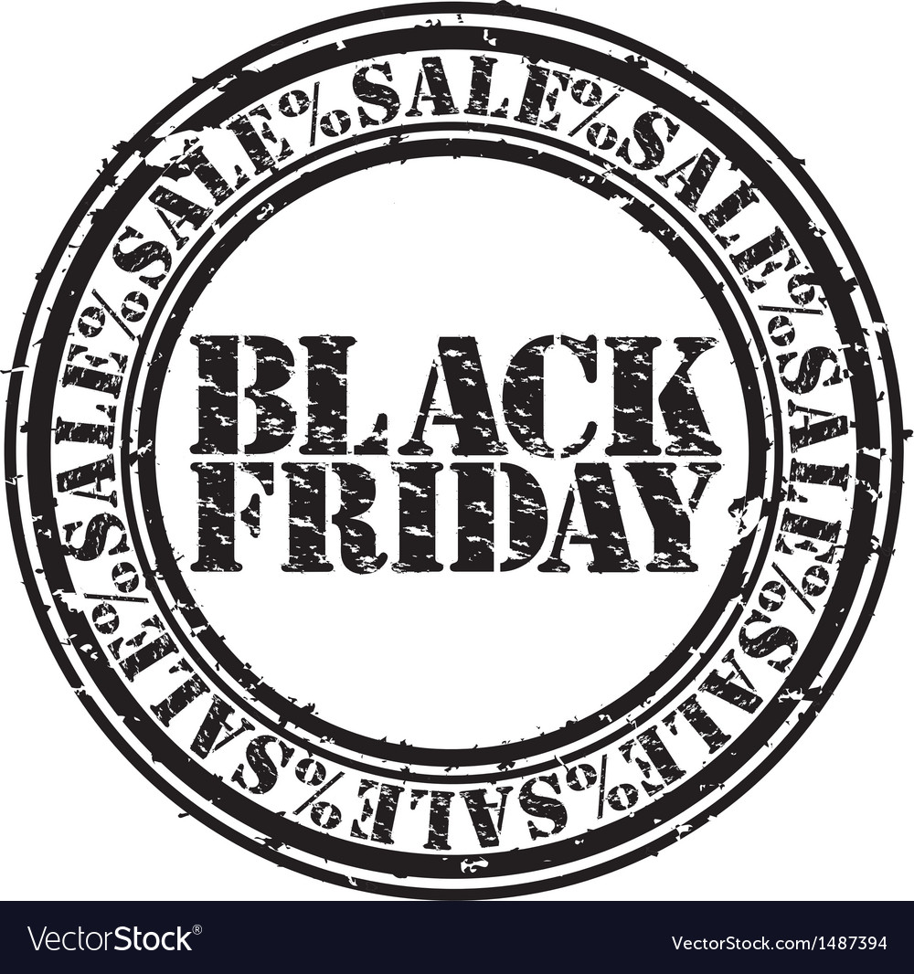 Black friday stamp vector | Price: 1 Credit (USD $1)