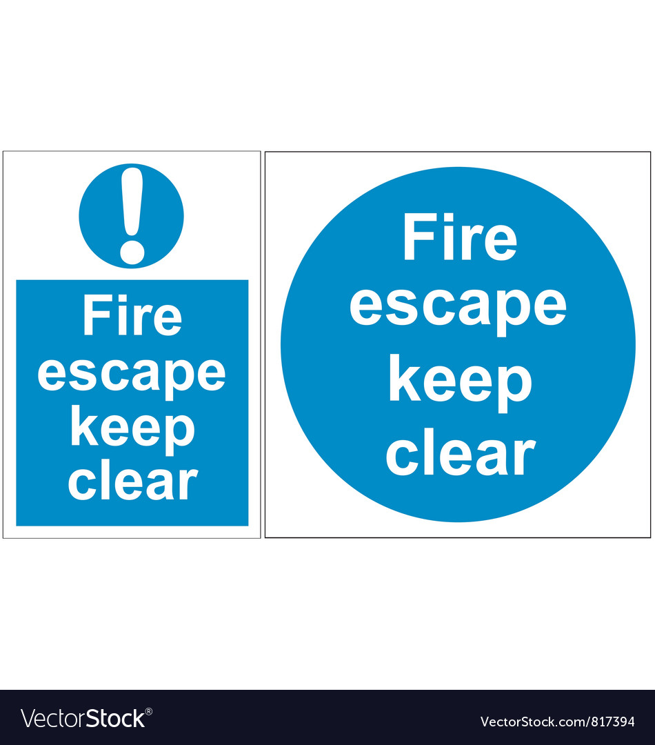 Fire escape signs vector | Price: 1 Credit (USD $1)