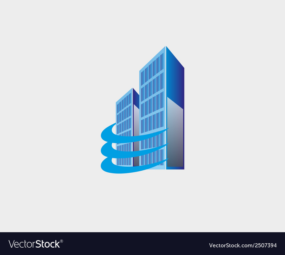 Holding skyscrapers business real estate building vector | Price: 1 Credit (USD $1)