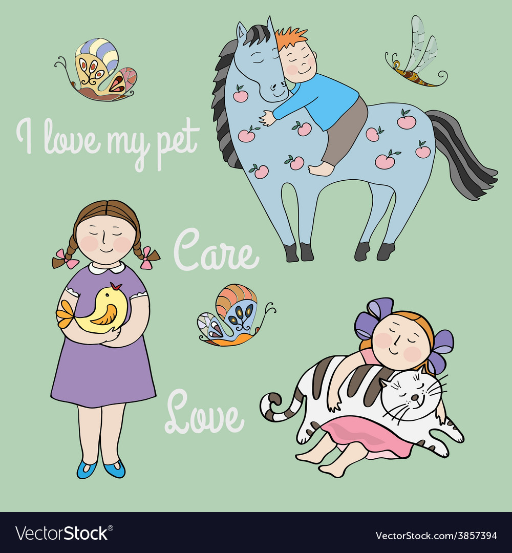 Love and care vector | Price: 1 Credit (USD $1)