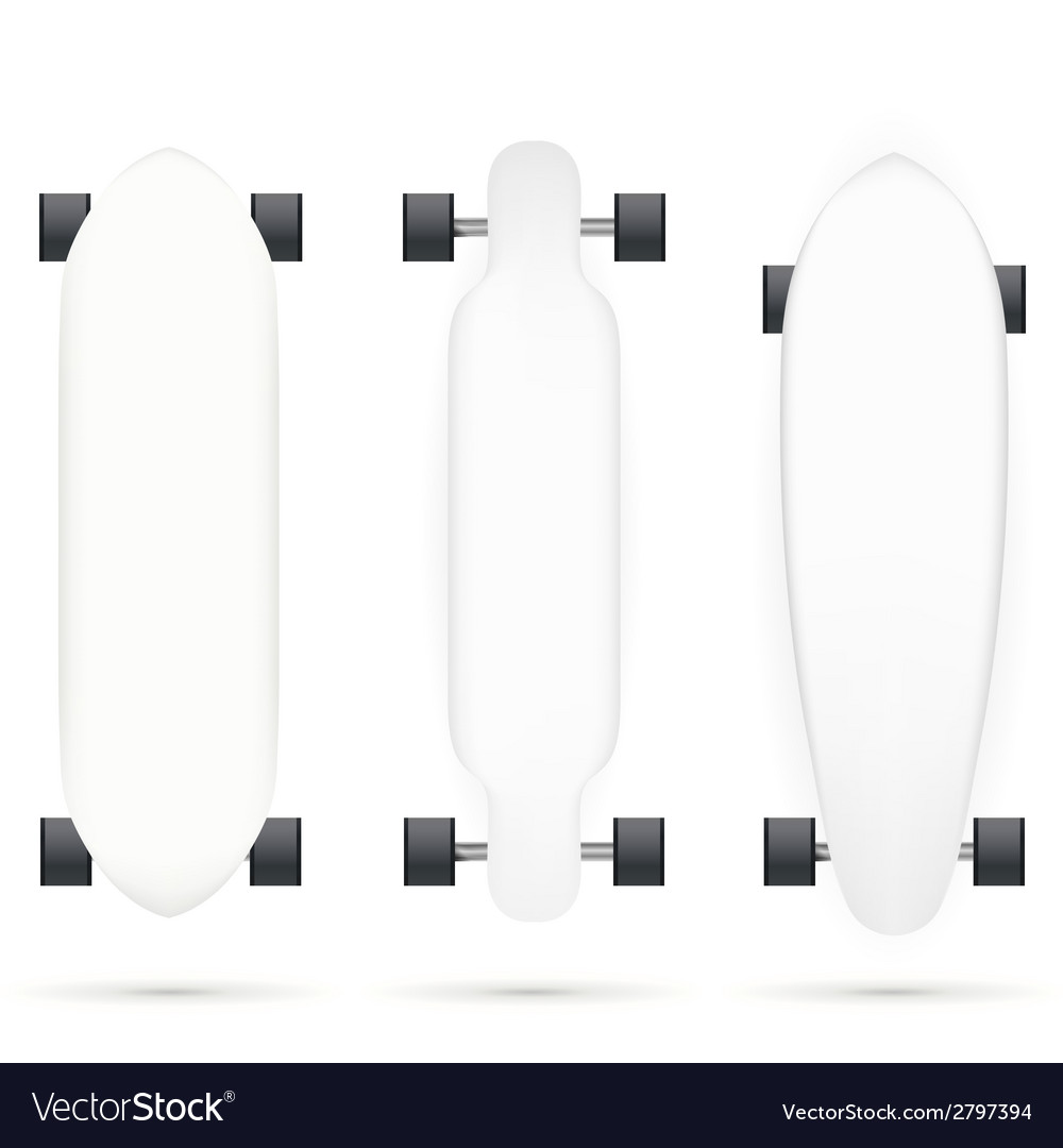 Mock-up for longboards vector | Price: 1 Credit (USD $1)
