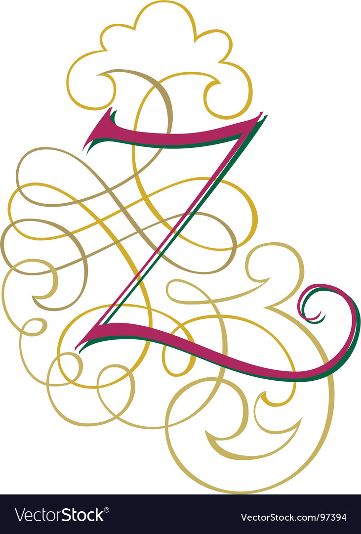 Script letter z vector | Price: 1 Credit (USD $1)