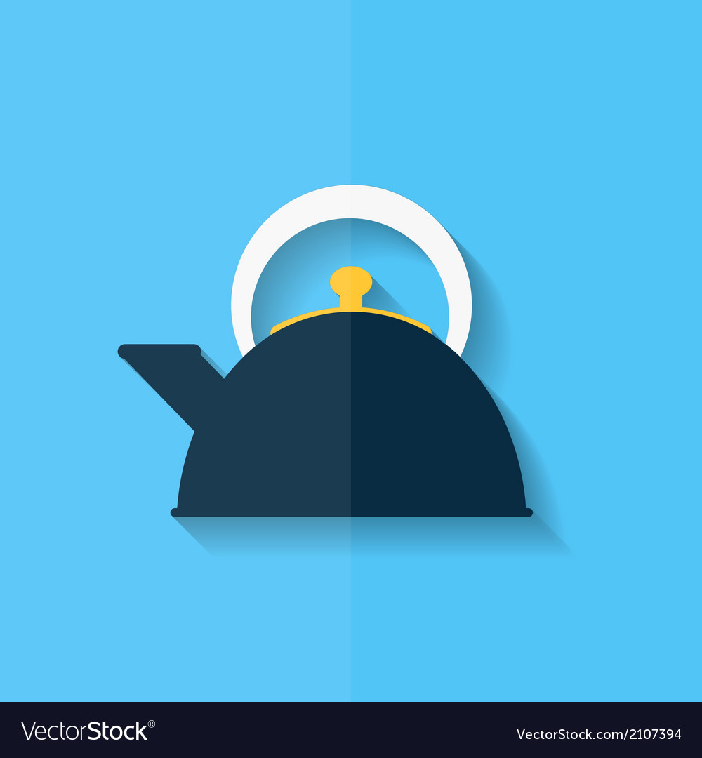 Teapot icon coffee pot symbol flat design vector | Price: 1 Credit (USD $1)
