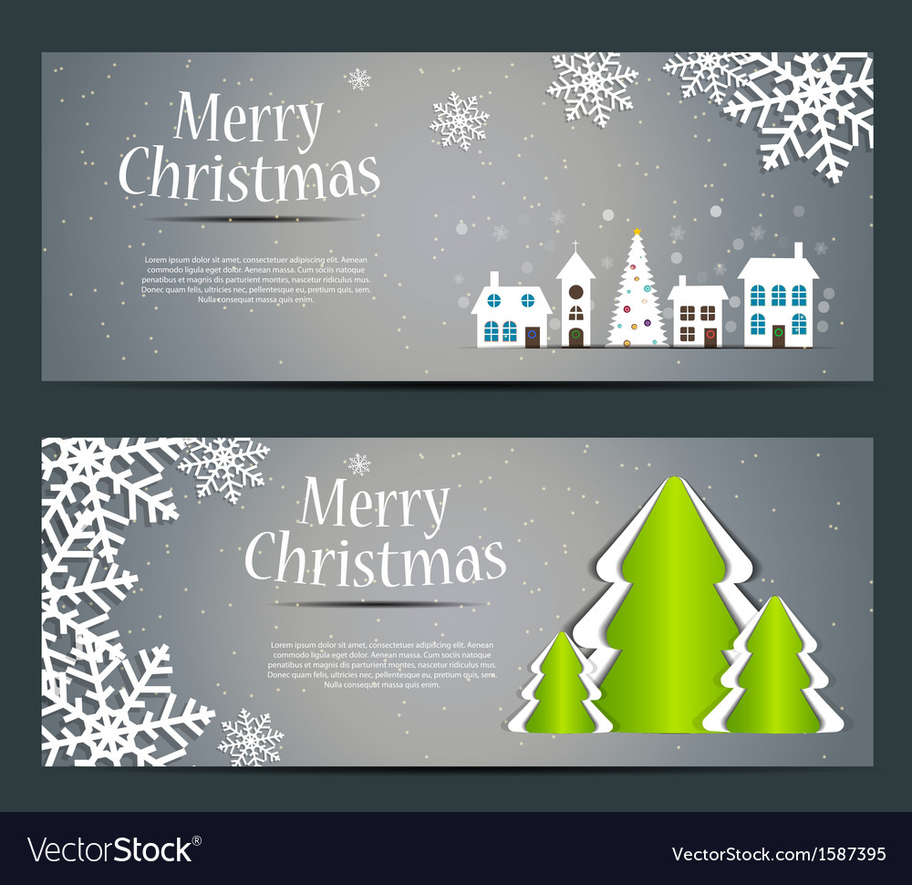 Abstract beauty christmas and new year banner vector | Price: 1 Credit (USD $1)
