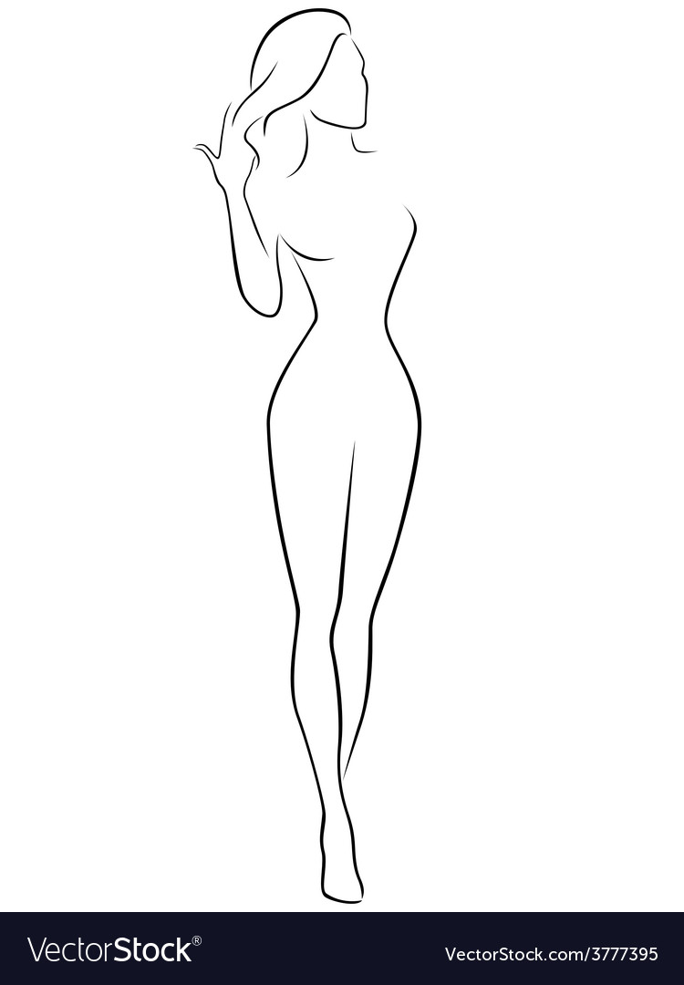Abstract female contour vector | Price: 1 Credit (USD $1)