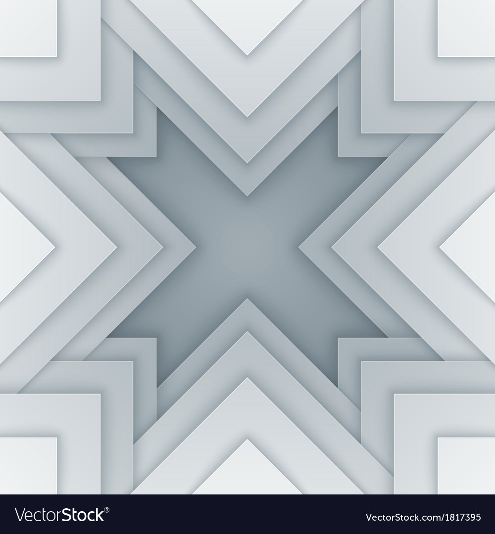 Abstract white and gray triangle shapes background vector | Price: 1 Credit (USD $1)
