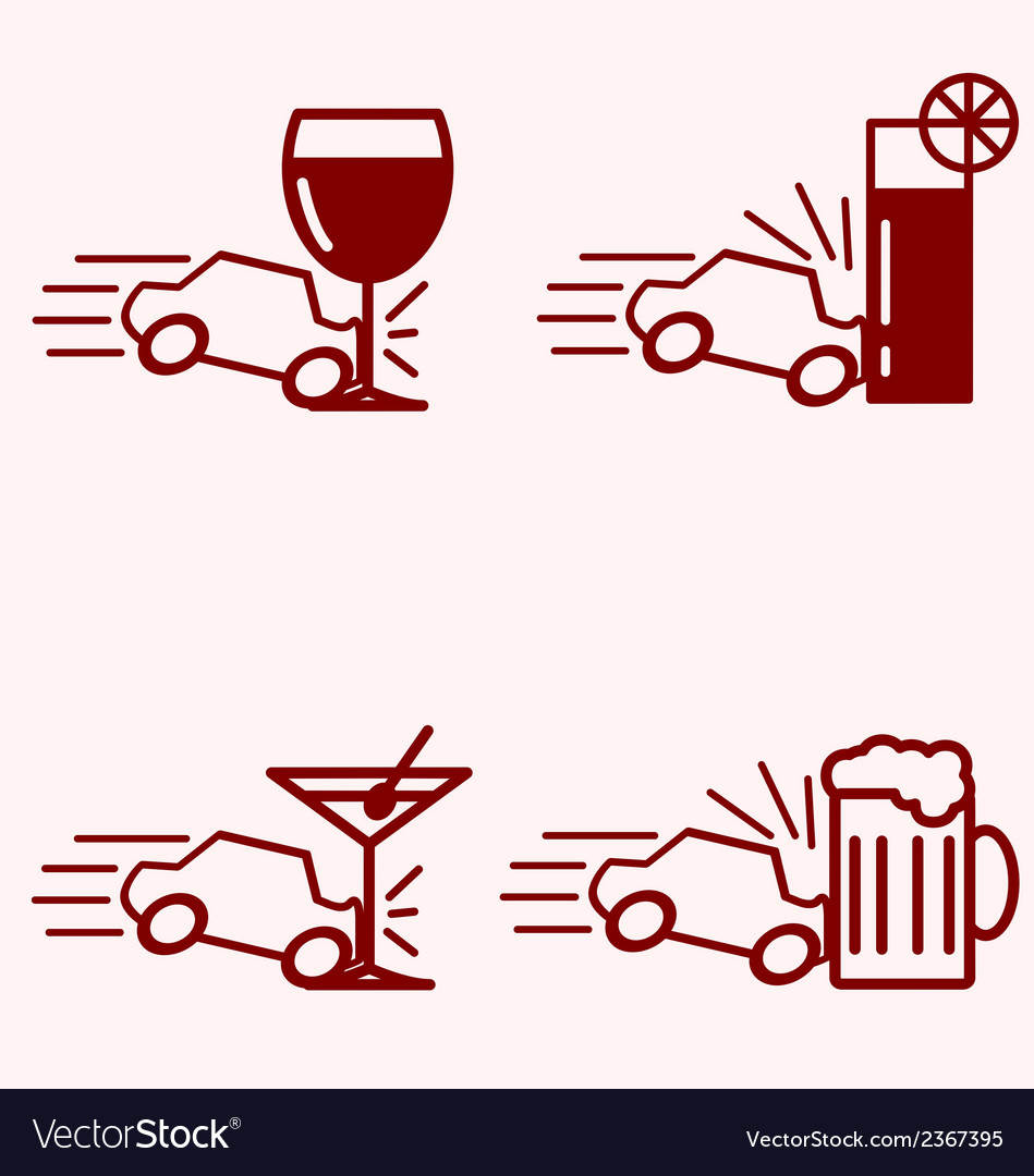 Alcohol and driving accident vector | Price: 1 Credit (USD $1)