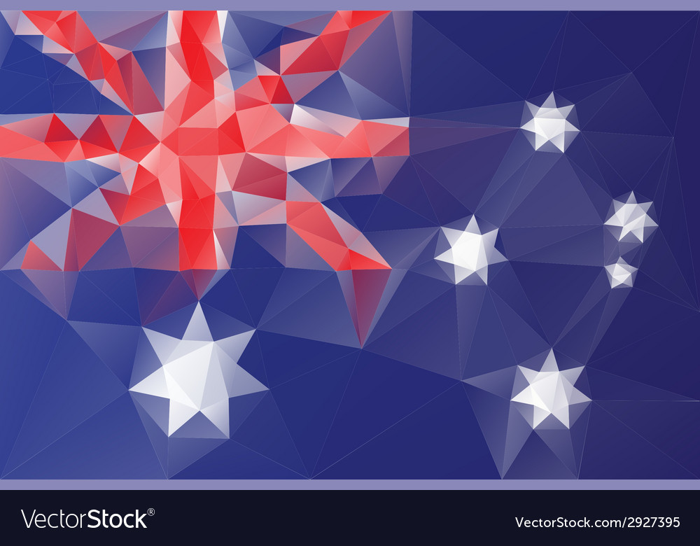 Australian flag vector | Price: 1 Credit (USD $1)