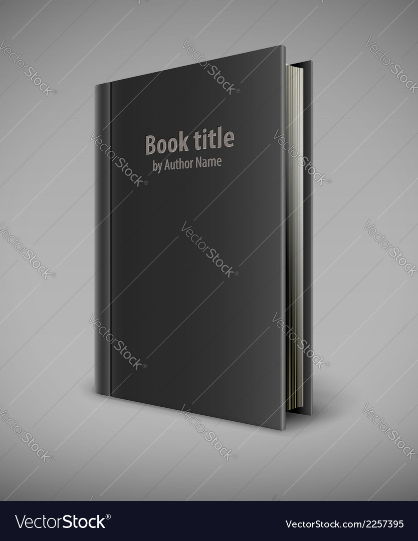 Book template with black cover vector | Price: 1 Credit (USD $1)