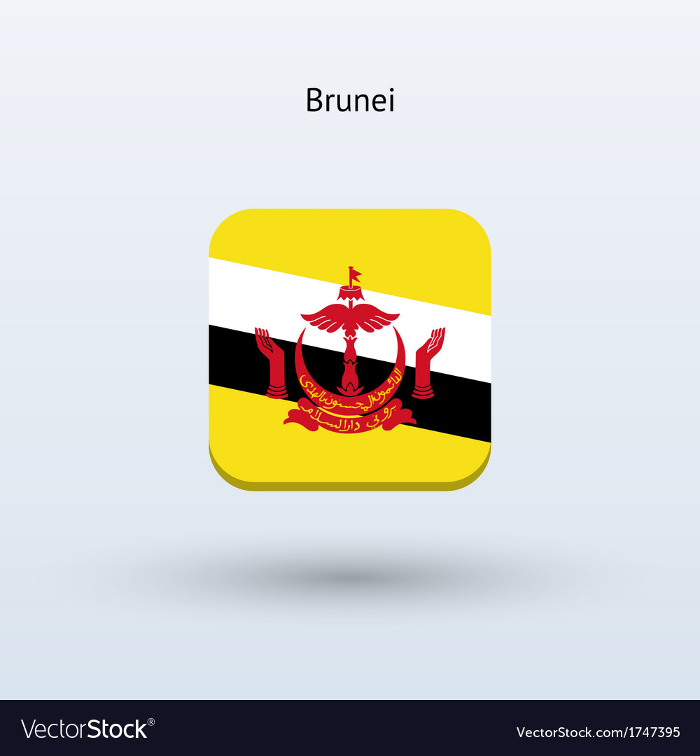 Brunei flag icon vector | Price: 1 Credit (USD $1)