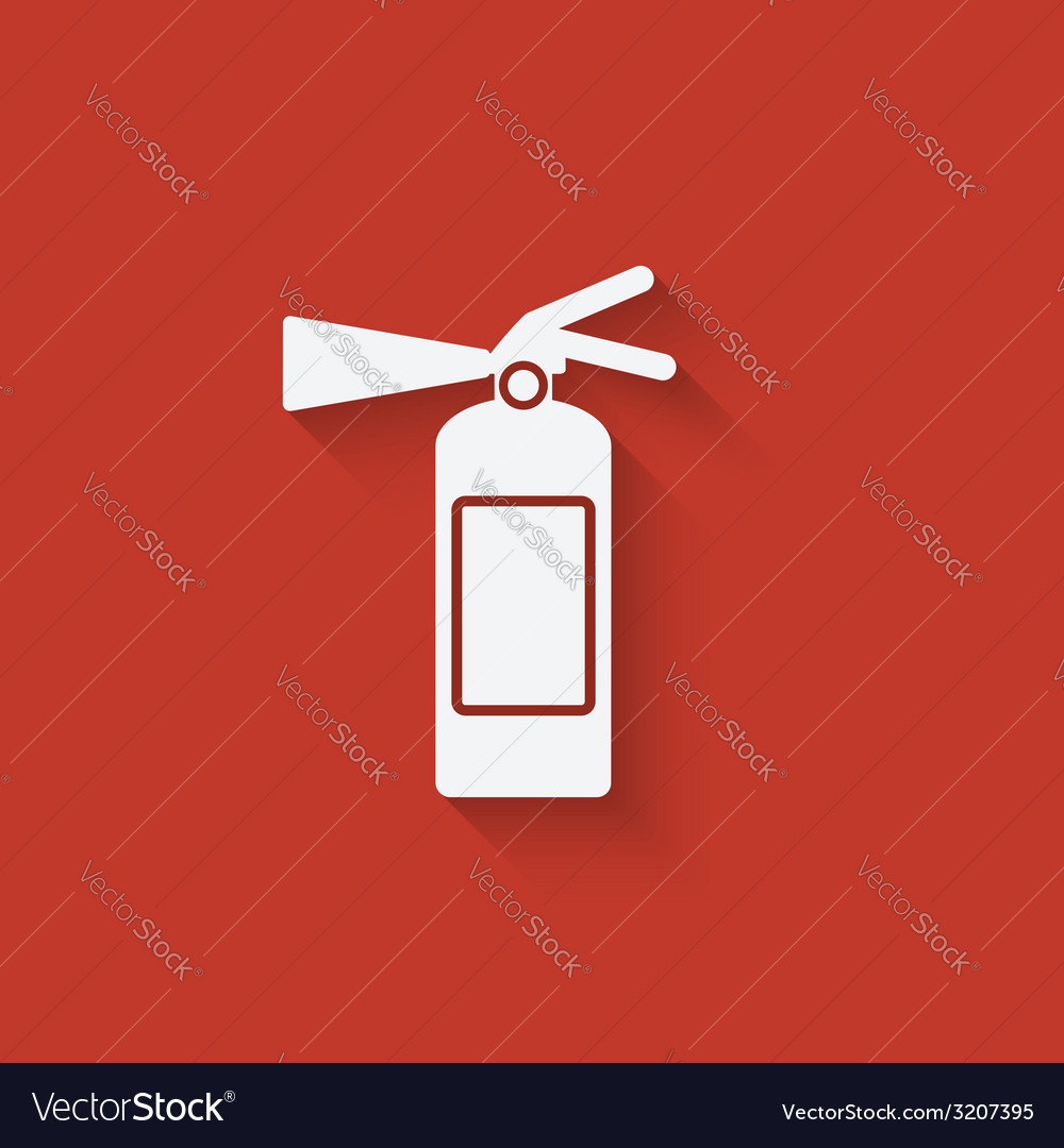 Fire extinguisher symbol vector | Price: 1 Credit (USD $1)