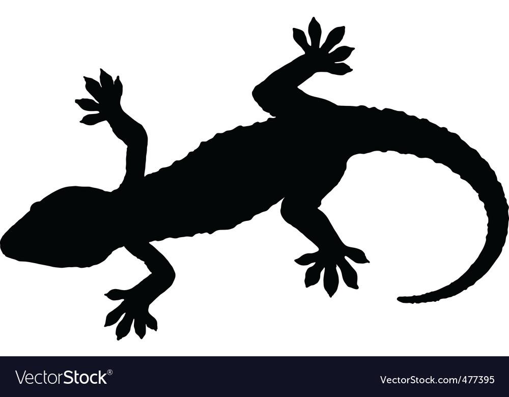 Gecko silhouette vector | Price: 1 Credit (USD $1)