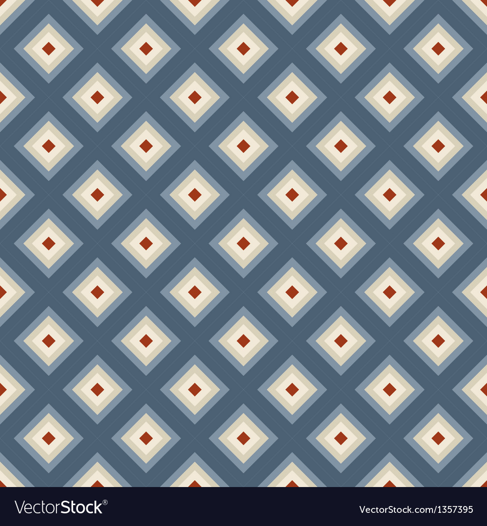 Geometric seamless pattern in retro style vector | Price: 1 Credit (USD $1)