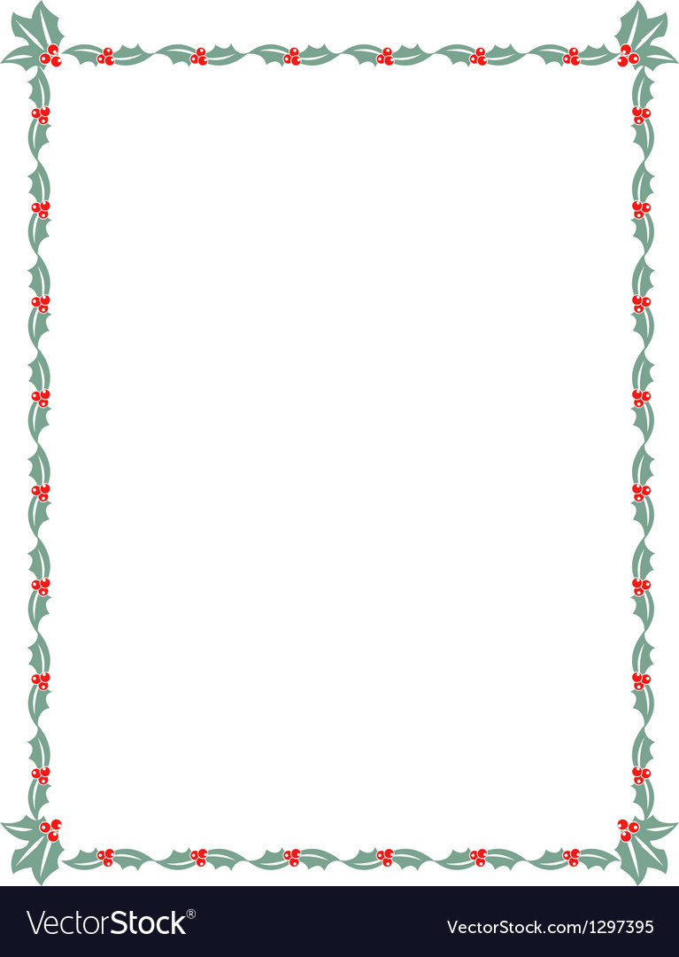 Holly border vector | Price: 1 Credit (USD $1)
