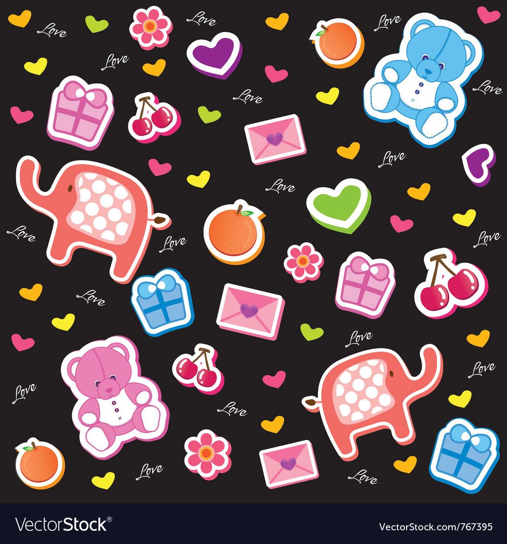 Kids fun pattern vector | Price: 1 Credit (USD $1)
