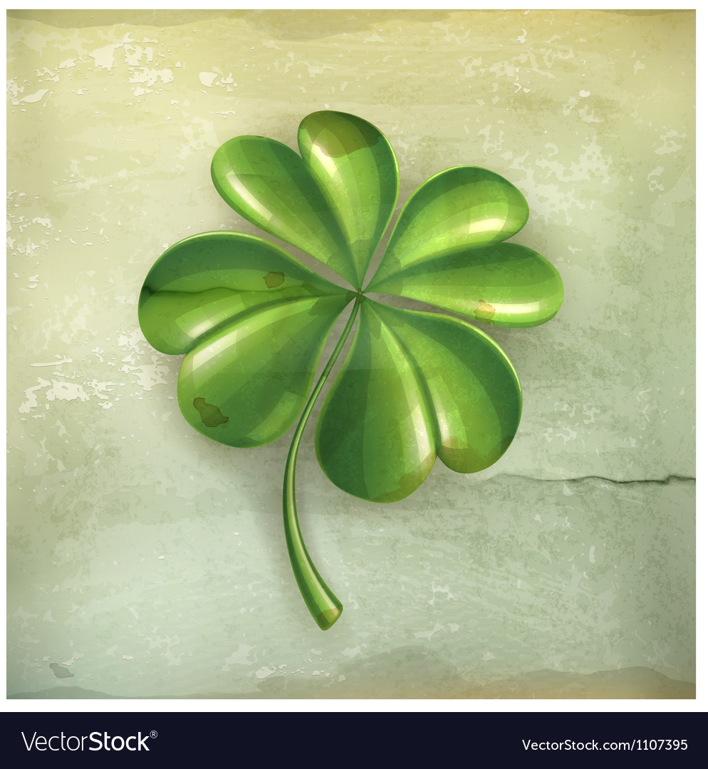 Lucky clover old-style vector | Price: 3 Credit (USD $3)
