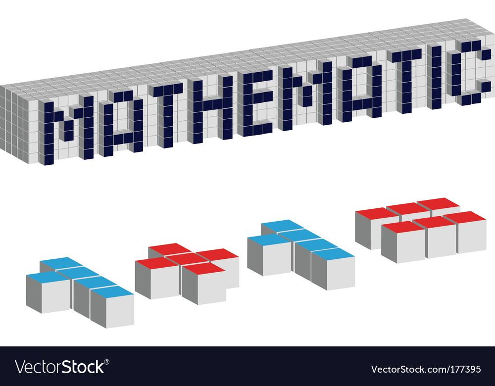 Mathematic cubes vector