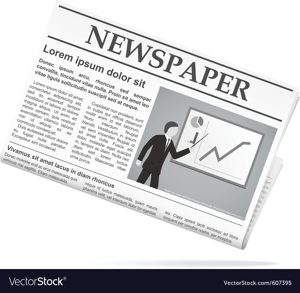 Newspaper icon vector | Price: 1 Credit (USD $1)