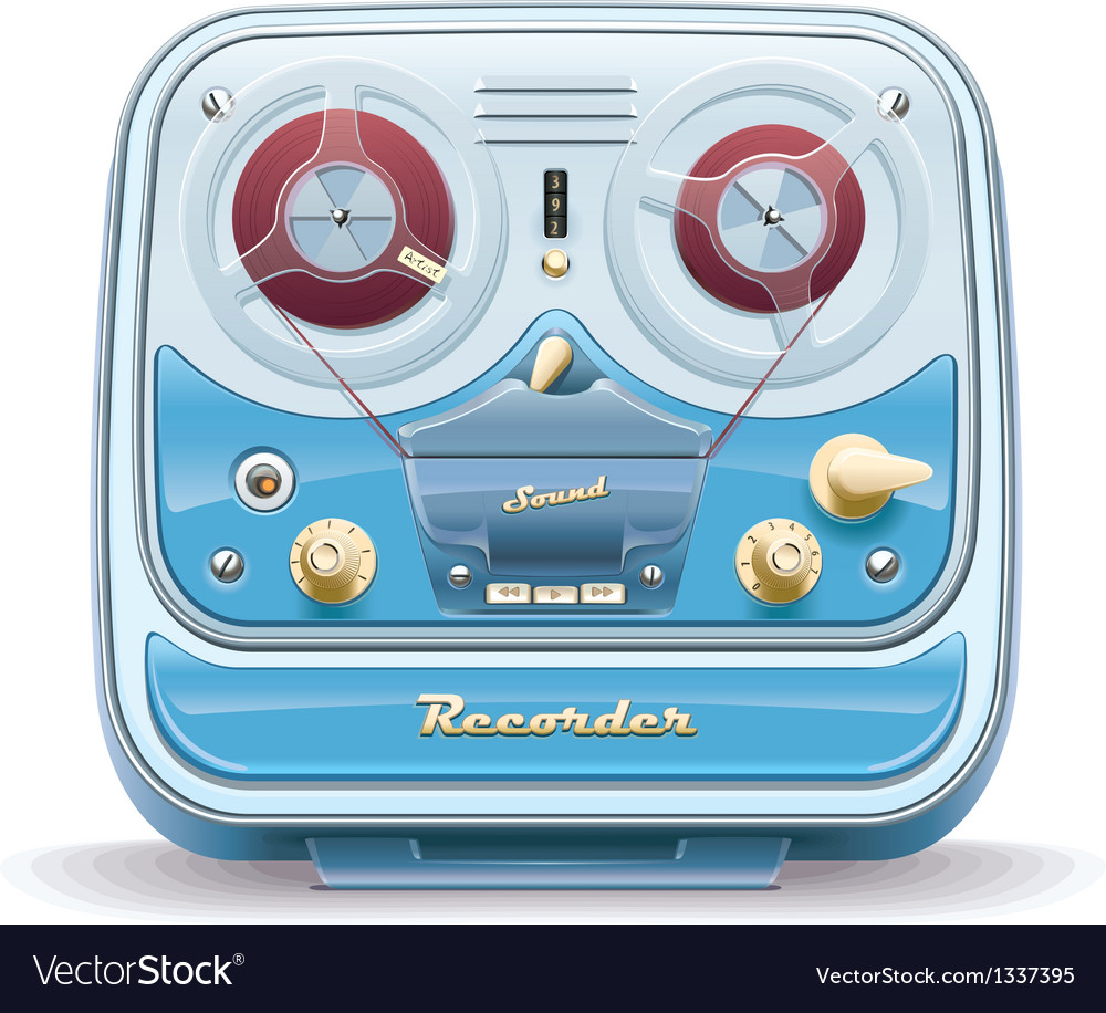 Old tape recorder vector | Price: 3 Credit (USD $3)