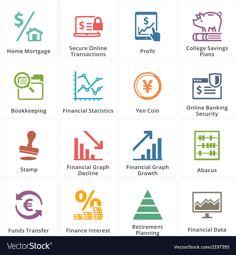Personal business finance icons set 3 vector | Price: 1 Credit (USD $1)