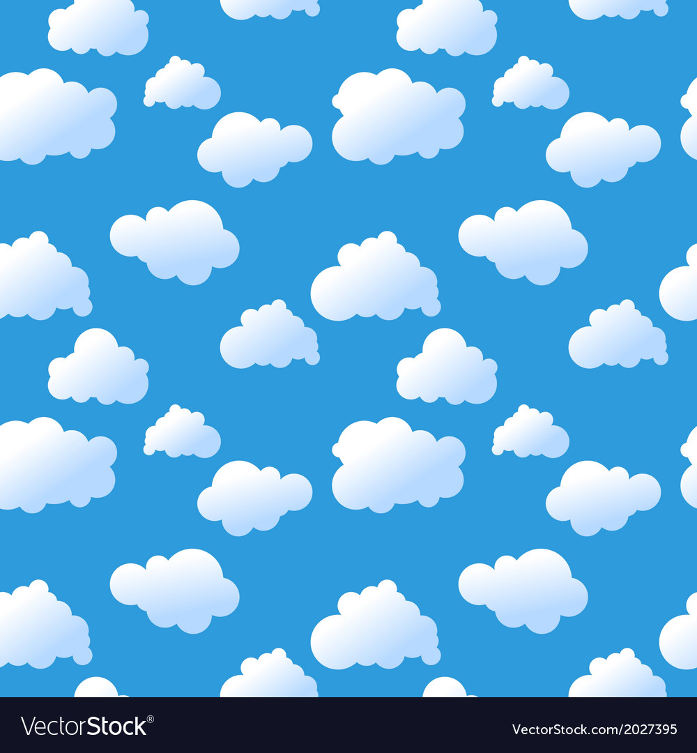 Seamless clouds background vector | Price: 1 Credit (USD $1)