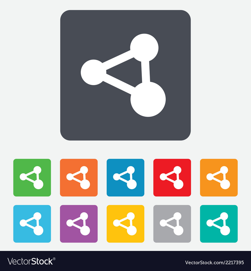 Share sign icon link technology symbol vector   Price: 1 Credit (USD $1)