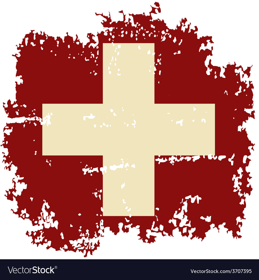 Swiss grunge flag vector   Price: 1 Credit (USD $1)
