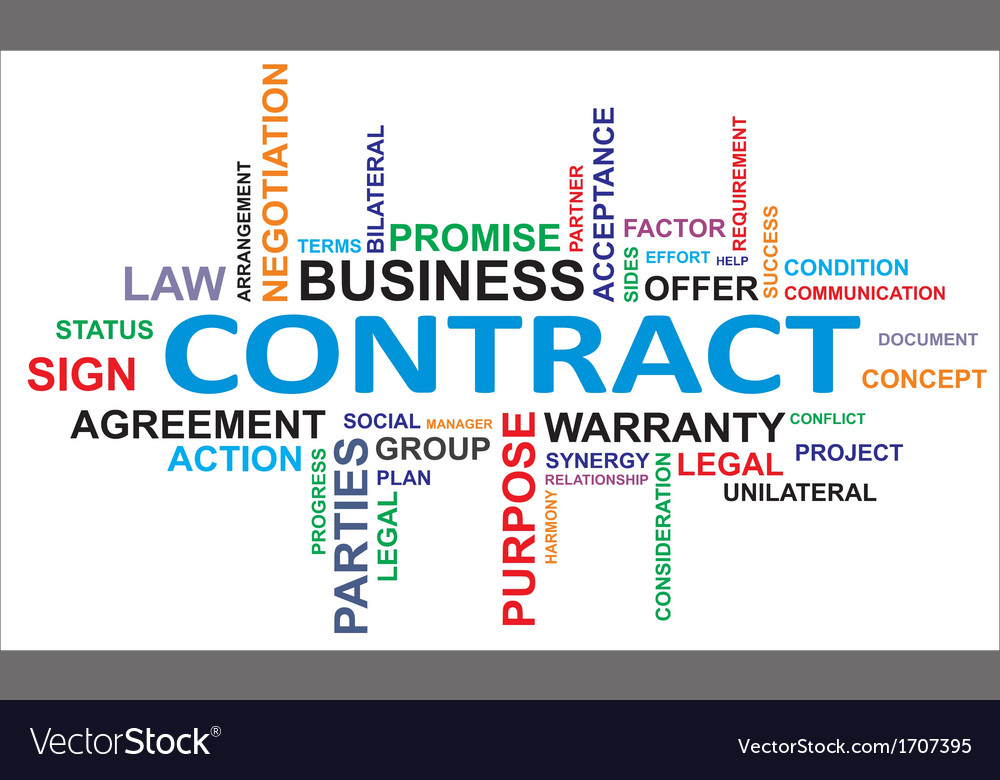 Word cloud contract vector | Price: 1 Credit (USD $1)