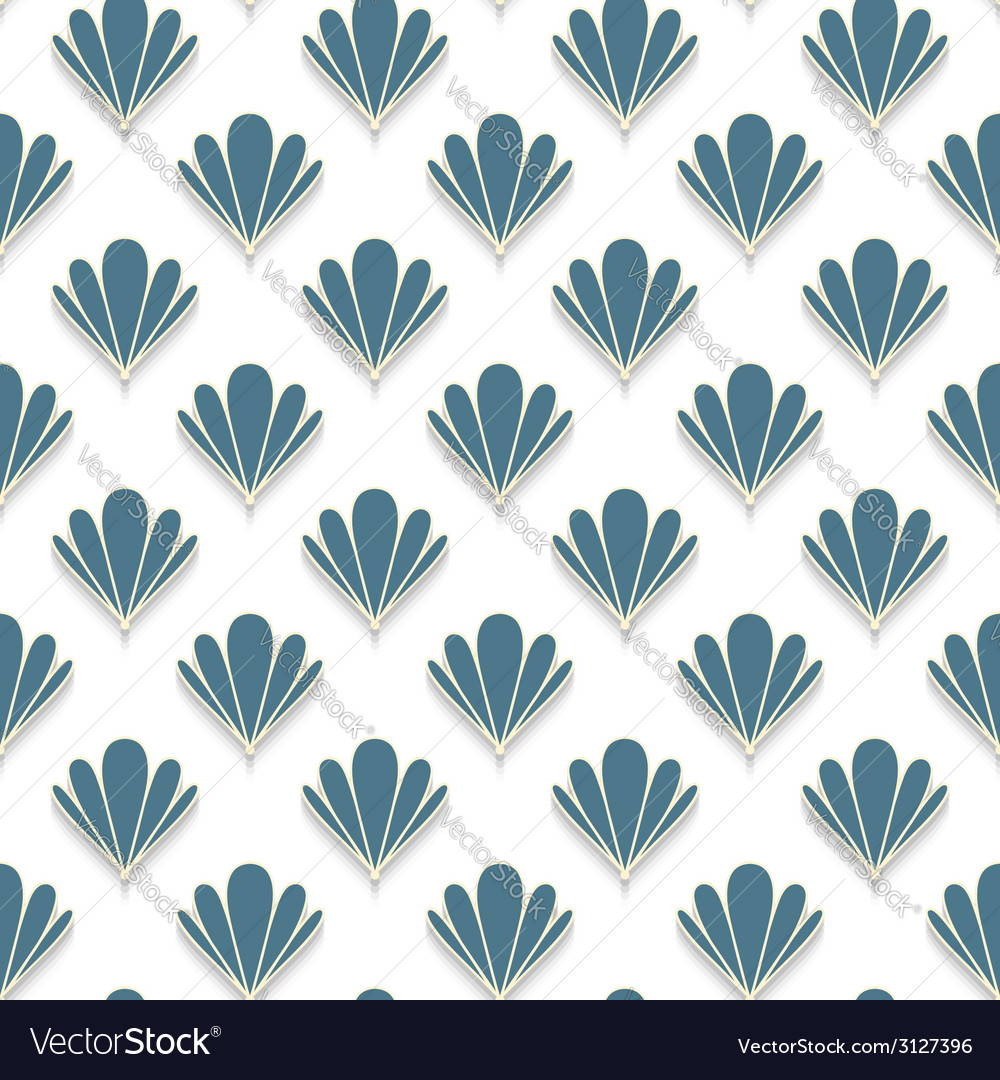 Abstract shell seamless pattern vector | Price: 1 Credit (USD $1)
