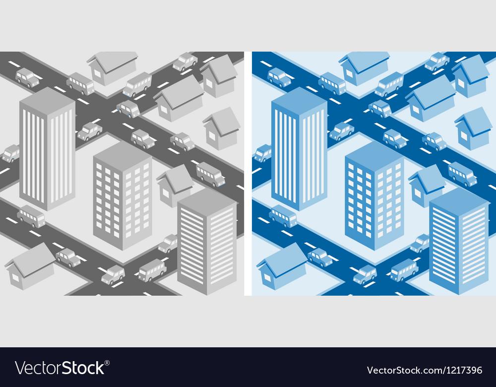 Decorative cityscape vector | Price: 3 Credit (USD $3)