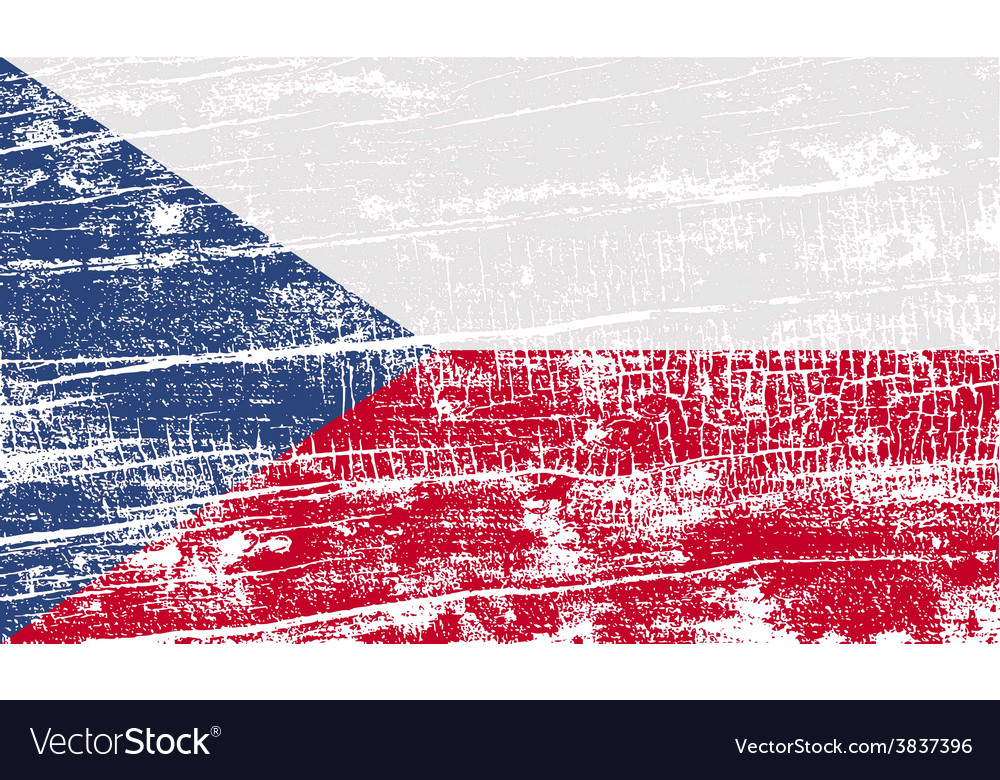 Flag of czech republic with old texture vector   Price: 1 Credit (USD $1)